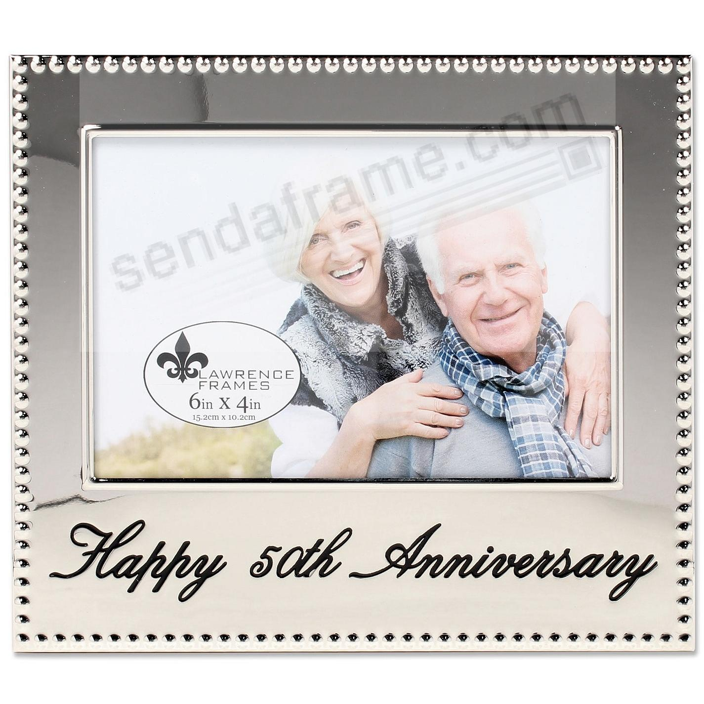 HAPPY 50th ANNIVERSARY special engraved celebration frame