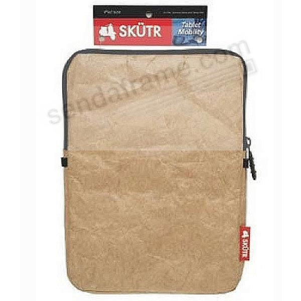 SKÜTR® e-Reader SOFT 6x8 Mini-Tech Pouch - Brown Tyvek®