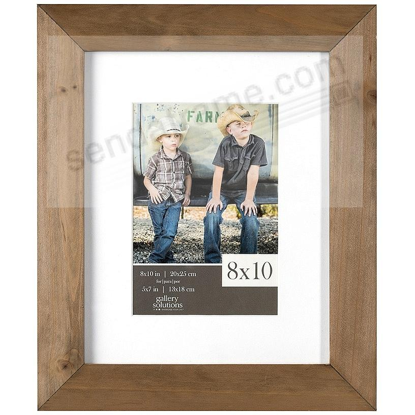 Natural-Stain Wood Wall Frame 8x10 matted to 5x7 by Gallery Solutions™