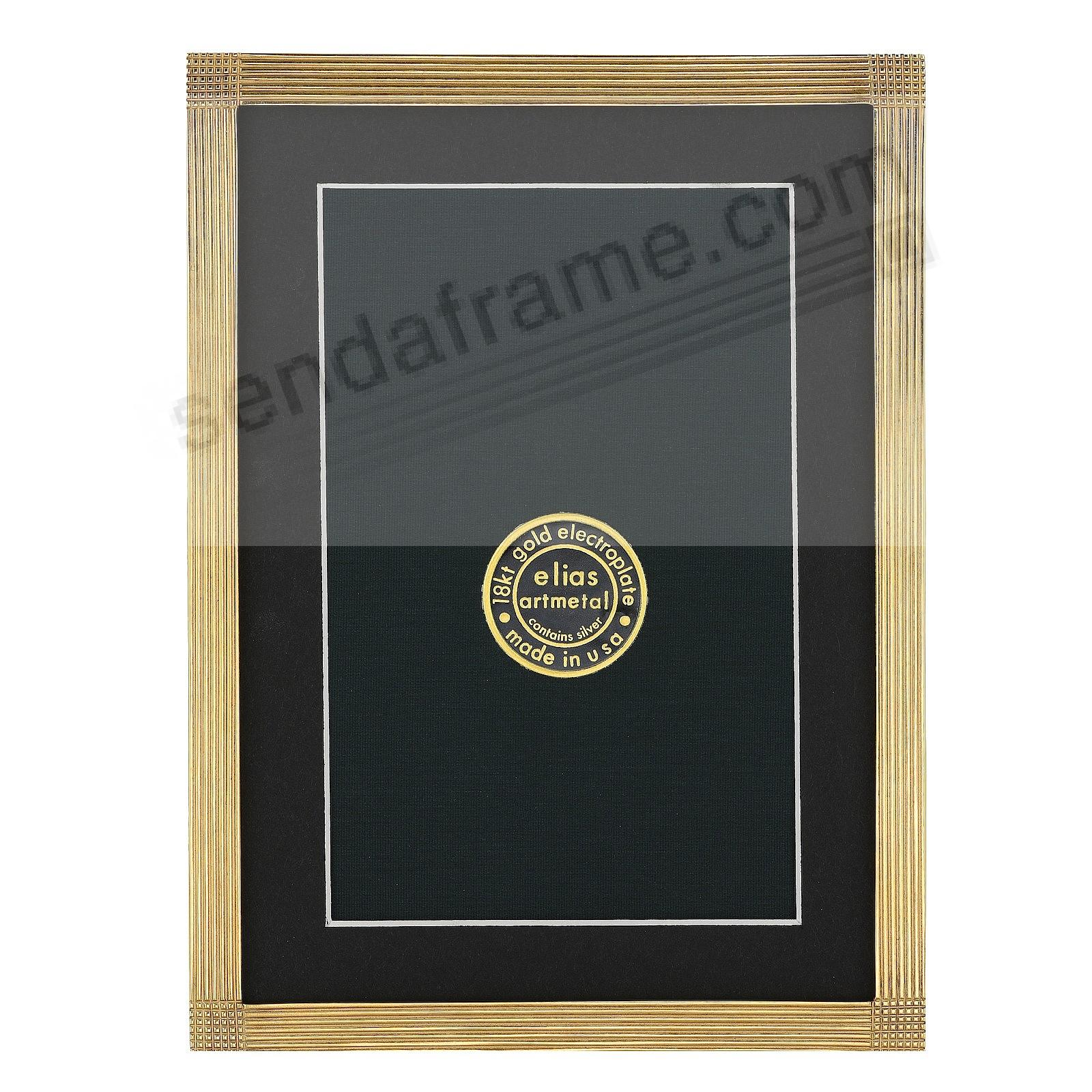 MATRIX luxe museum gold over fine pewter 5x7/4x6 by Elias Artmetal®