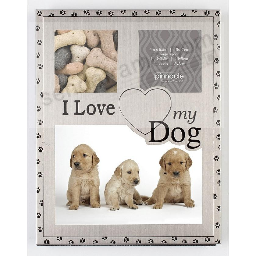 I LOVE MY DOG COLLAGE pewter frame by Pinnacle®