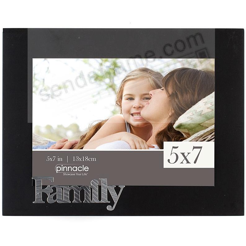 FAMILY ebony-black matted 5x7 keepsake frame by Pinnacle - Picture ...