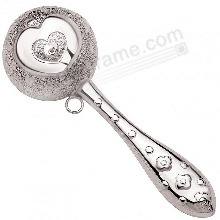Heirloom Sterling Silver HEART RATTLE by Zaramella®