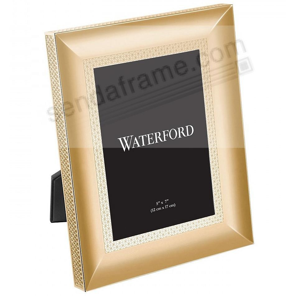 LISMORE DIAMOND patterned 5x7 Gold frame by Waterford®