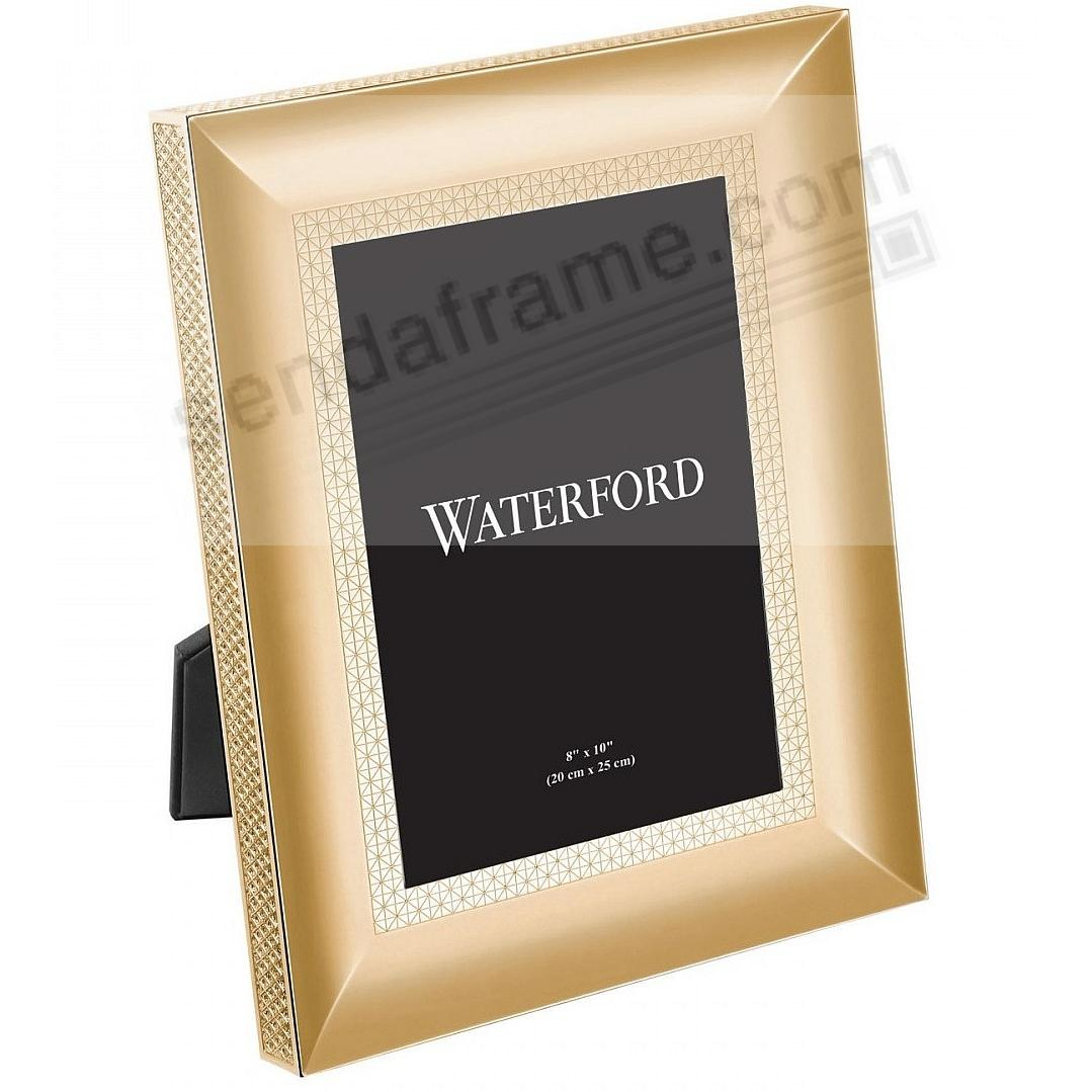 LISMORE DIAMOND patterned 8x10 Gold frame by Waterford®