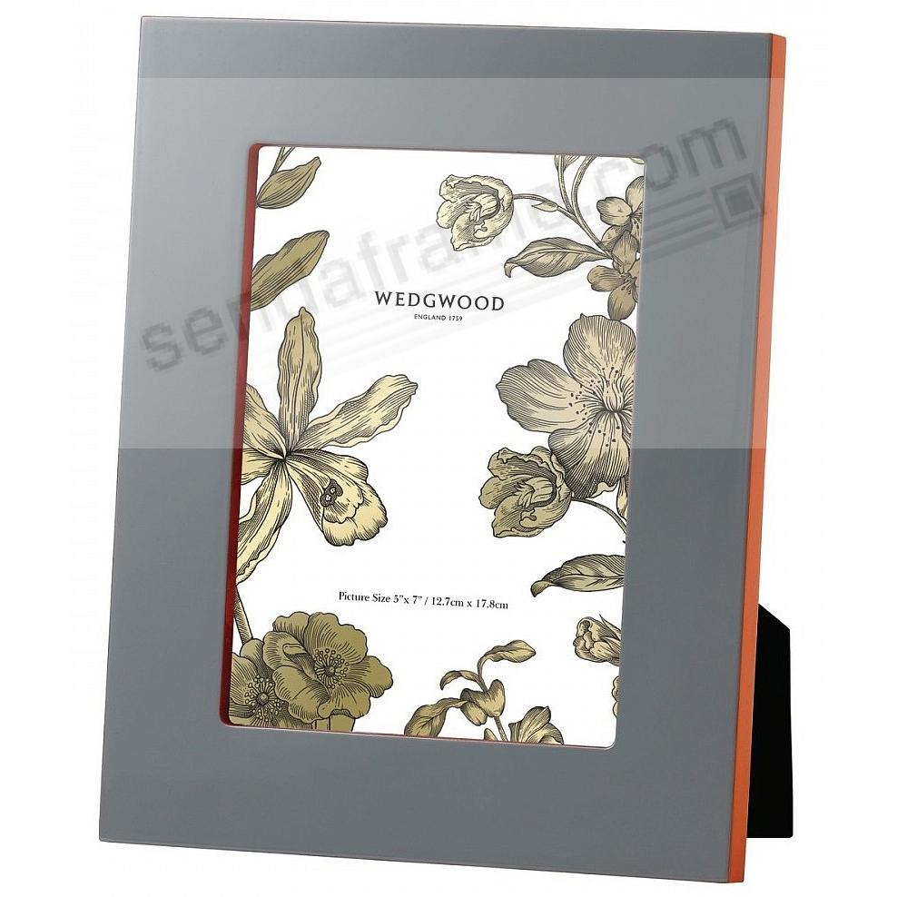 VIBRANCE LACQUER GRAY/Orange 5x7 Frame by Wedgwood®