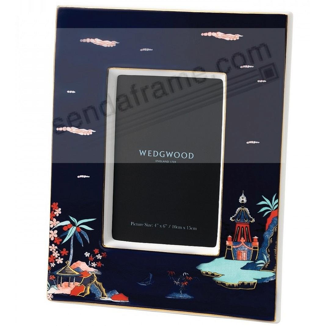 Wonderlust Blue Pagoda 4x6in Picture Frame by Wedgwood®