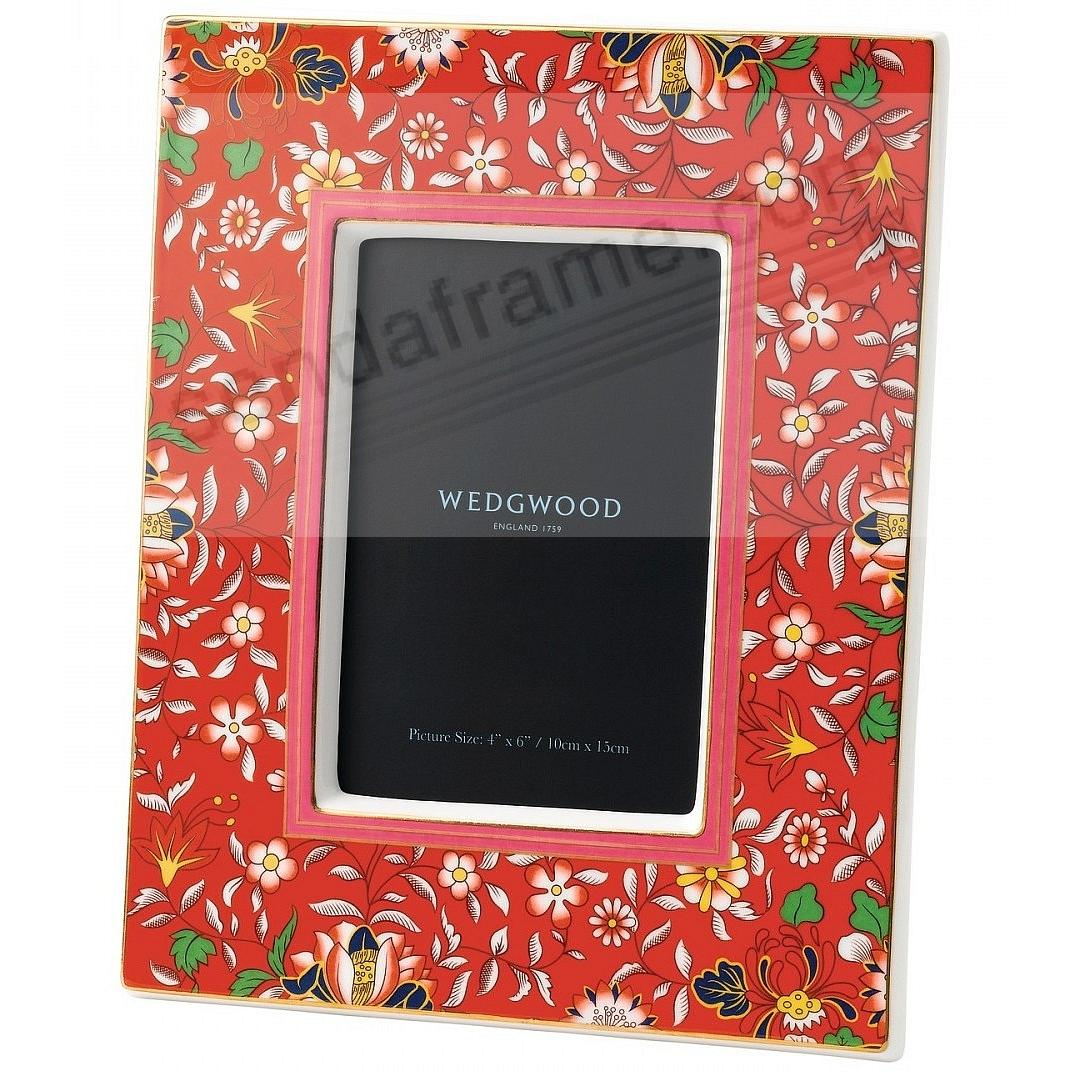 Wonderlust CRIMSON JEWEL Bone China 4x6 Frame by Wedgwood®