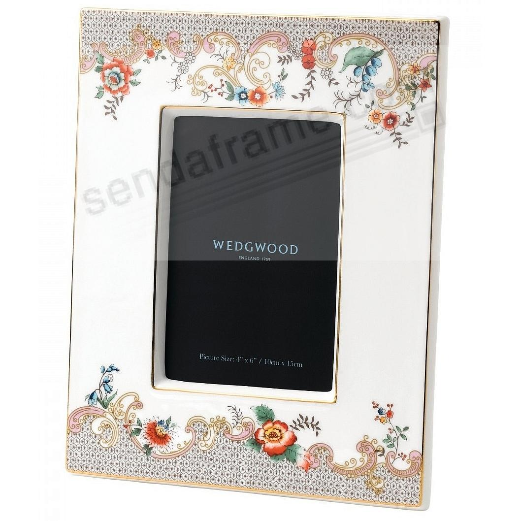 Wonderlust ROCOCO FLOWERS 4x6in Picture Frame by Wedgwood®