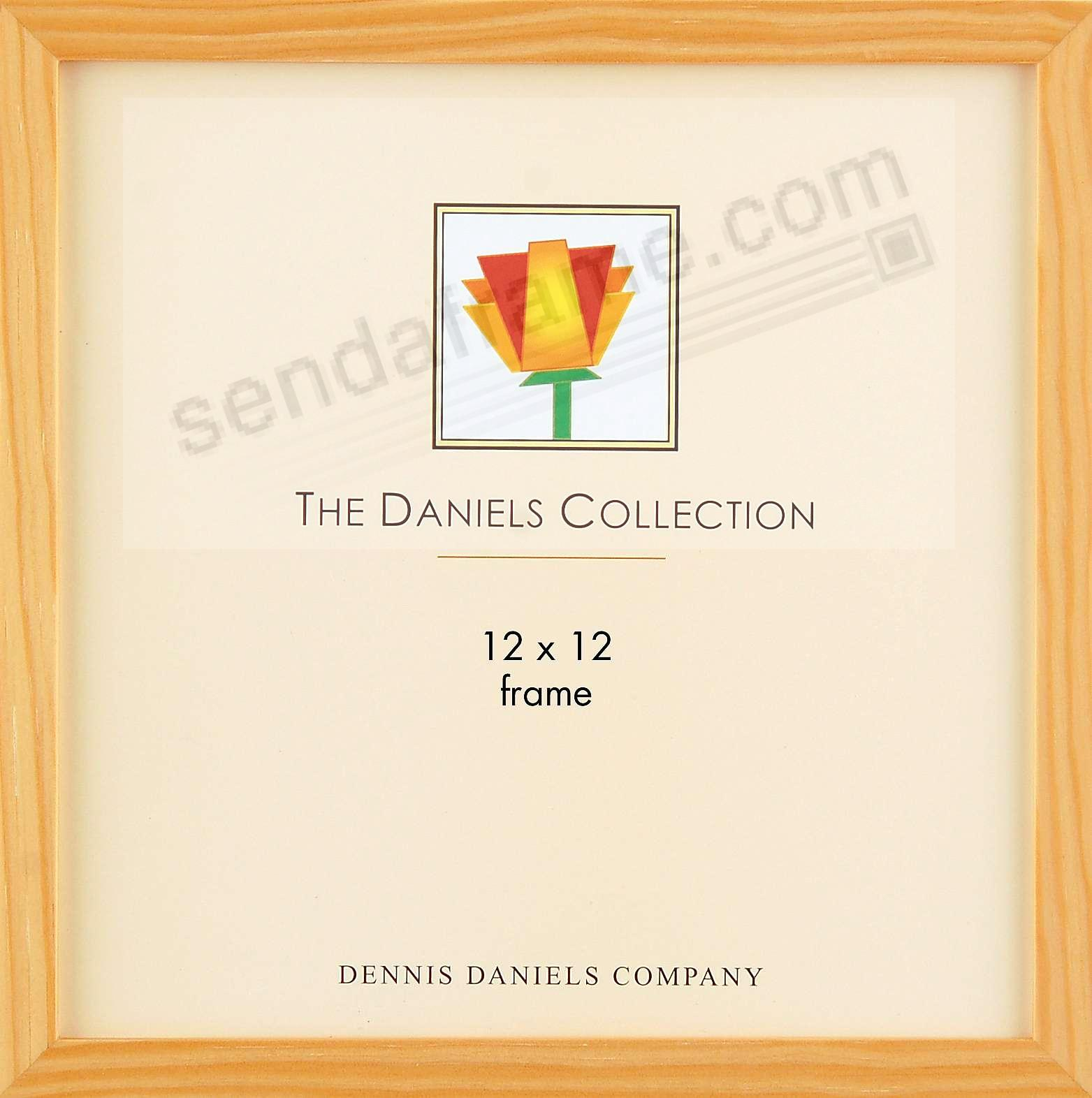 The Original DANIELS W41: Square Corner GALLERY WOODS classic in natural finish 12x12 by Dennis Daniels®