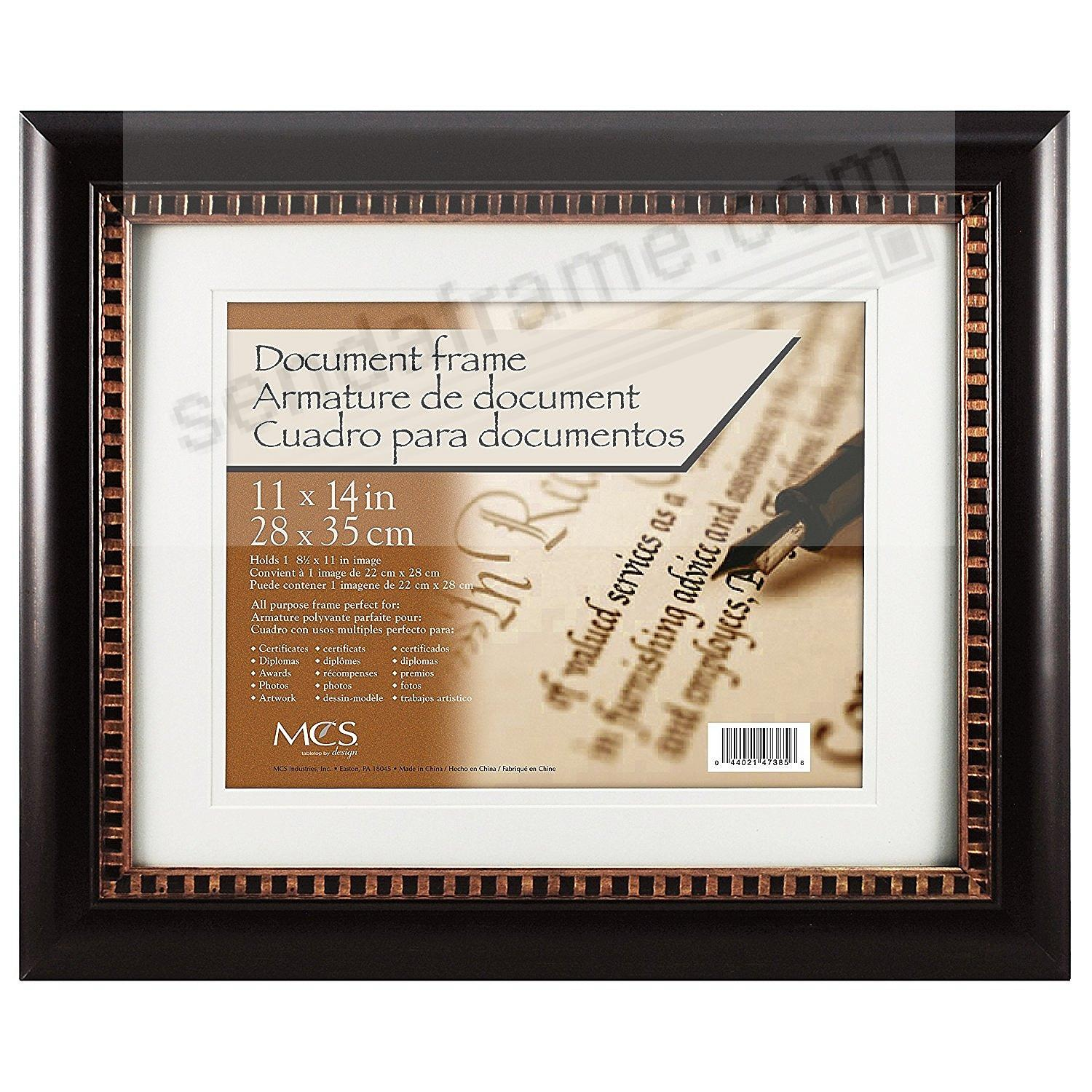 DAVENPORT BRONZE DOUBLE MATTED Fancy Certificate frame by MCS®