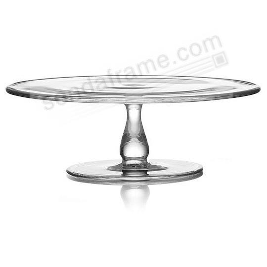 The MODERNE GLASS 11-inch CAKE PLATE by Nambe®