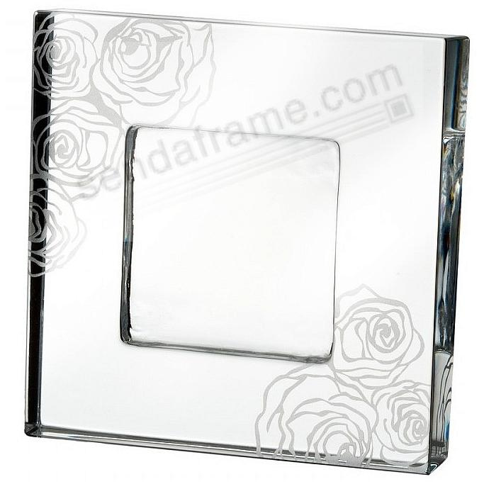 SUNDAY ROSE CRYSTAL 4x4 frame by Monique Lhuillier for Waterford®