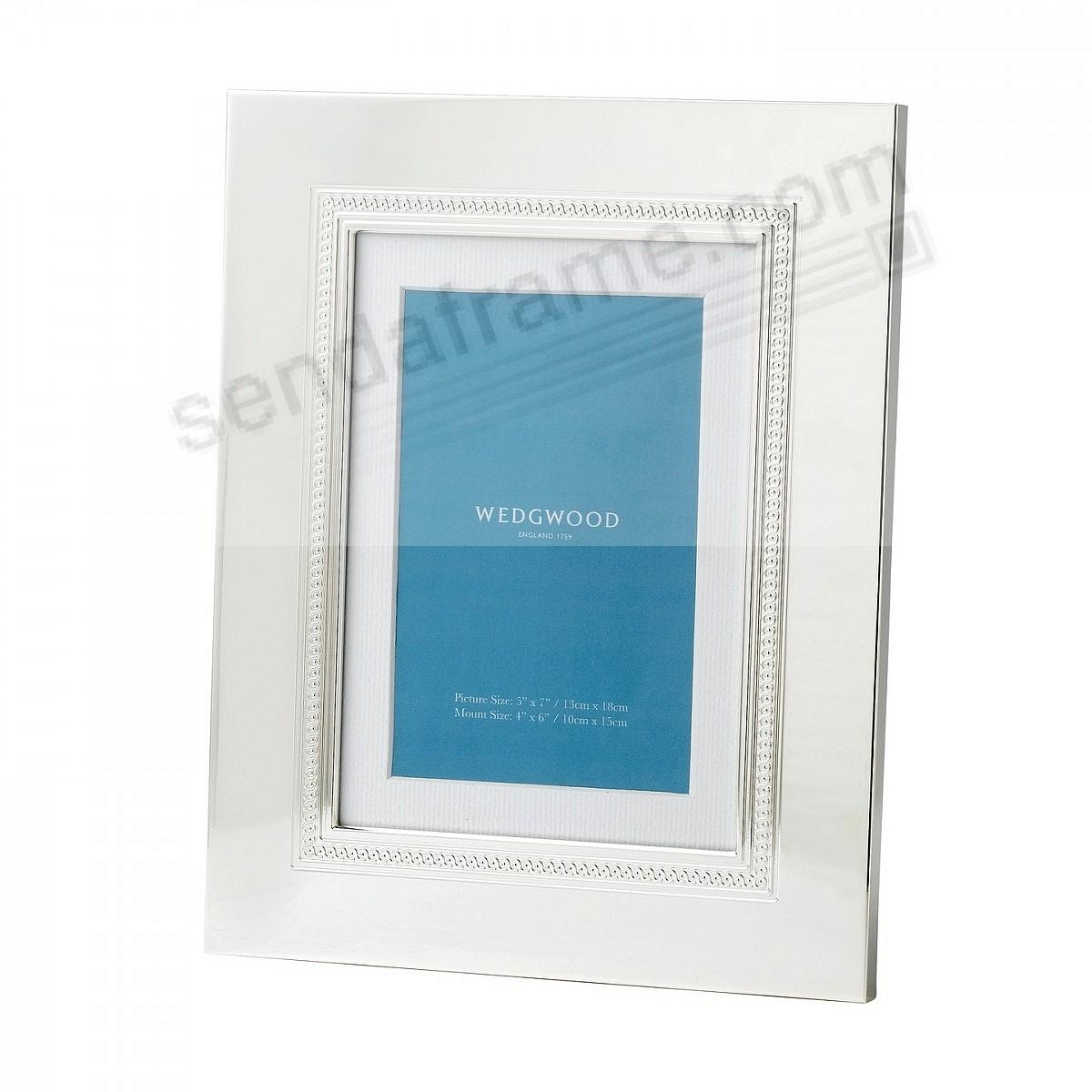 SIMPLY WISH SILVER 5x7/4x6 frame by Wedgwood® - Picture Frames ...