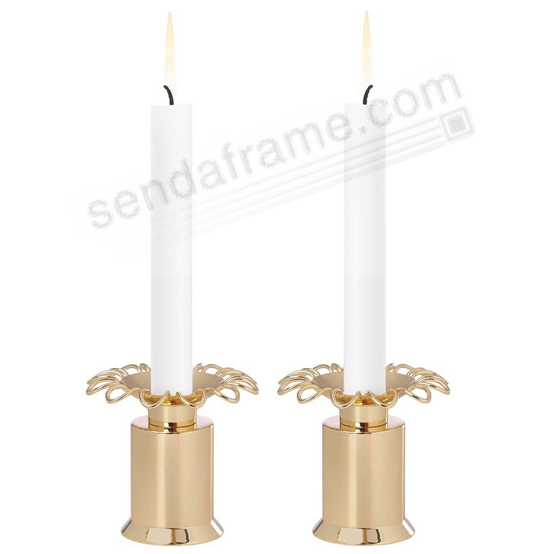 The KEATON STREET GOLD CANDLESTICK (PAIR) by kate spade new york®
