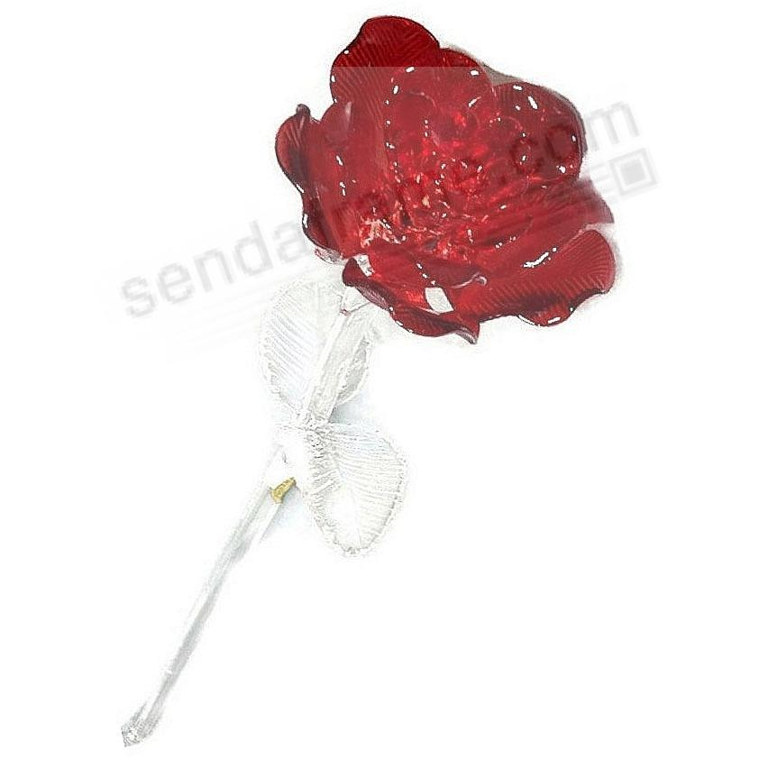 The Original Crystal FLEUROLOGY RED ROSE Waterford®