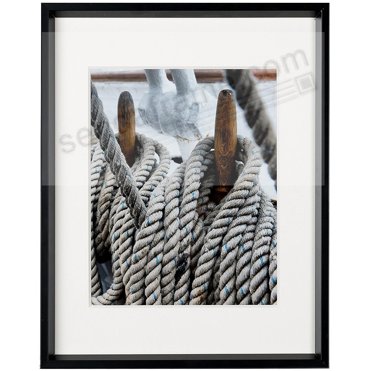 GALLERY matted Matte-Black metallic frame 11x14/8x10 from ARTCARE ...