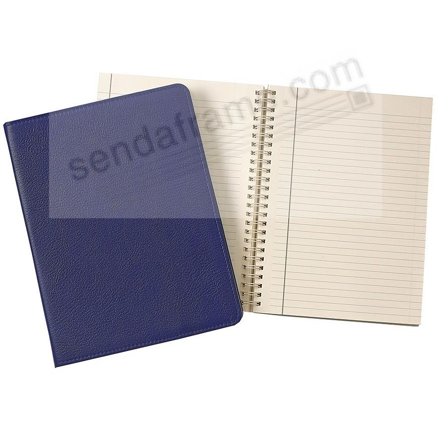 Wire-O-Notebook 9in INDIGO-BLUE Fine Leather by Graphic Image™