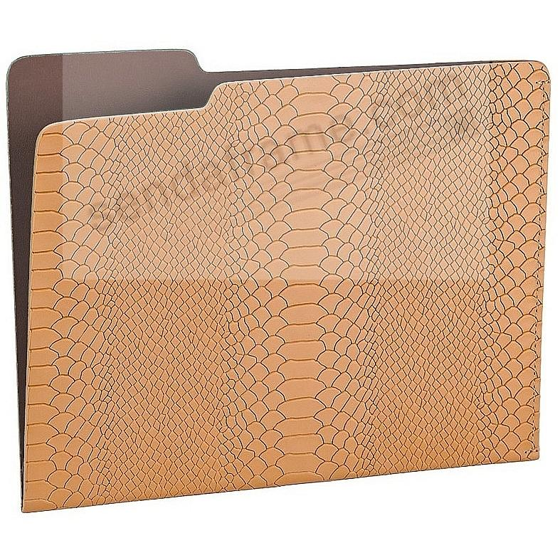 The CARLO File Folder BRITISH-TAN/Brown Embossed-Python Leather by Graphic Image®