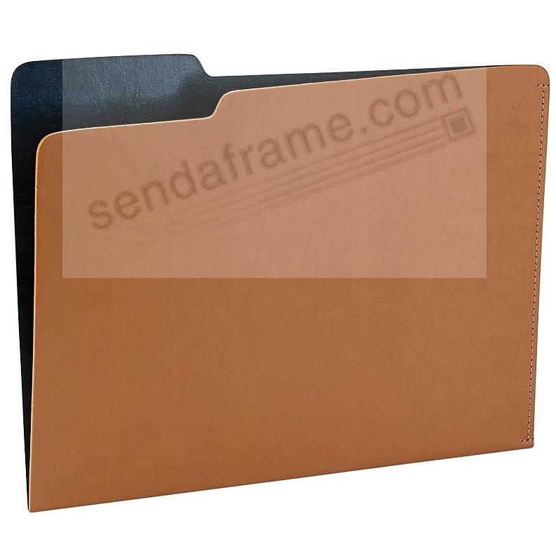 The CARLO File Folder TAN/Navy Eco-Leather by Graphic Image®
