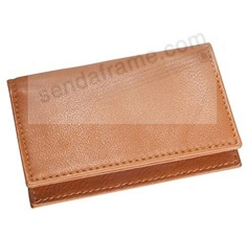Card Case w/ID Holder in British-Tan Traditional Leather by Graphic Image®