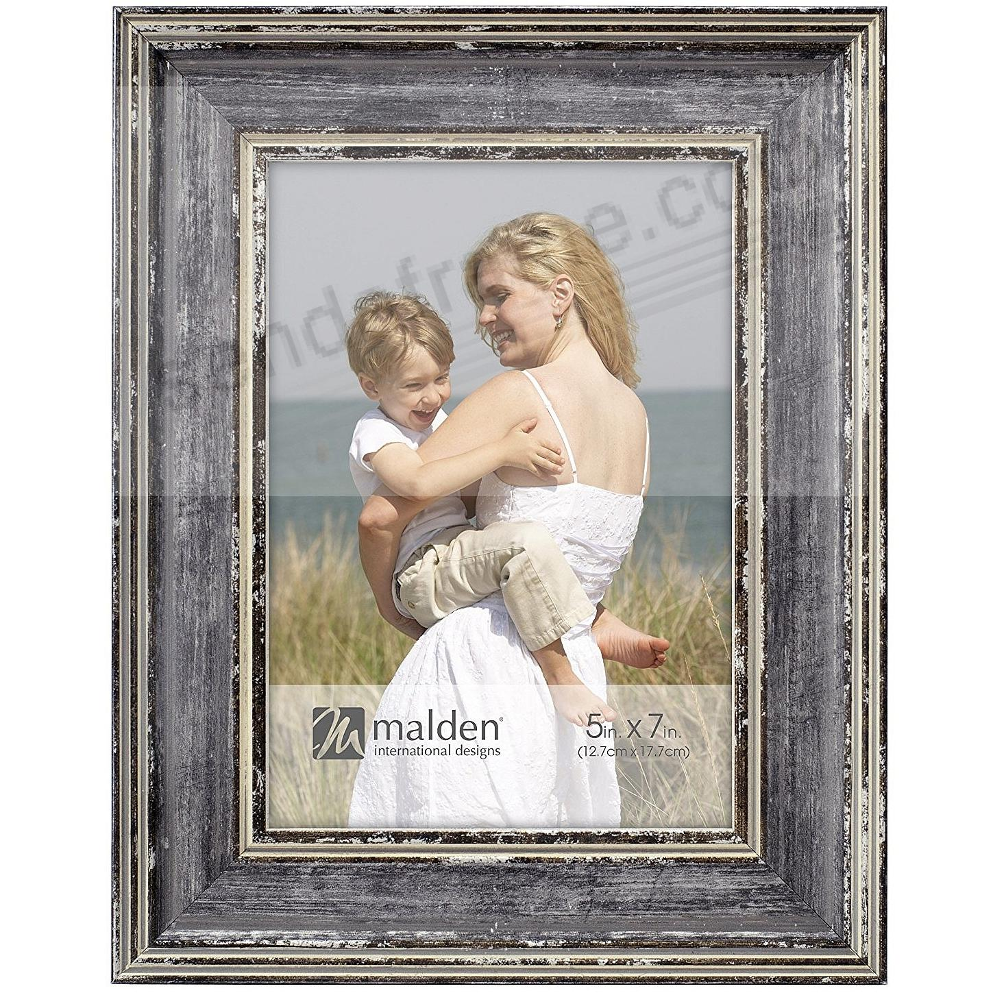 Watercolor GRAY Weathered 5x7 frame by Malden®
