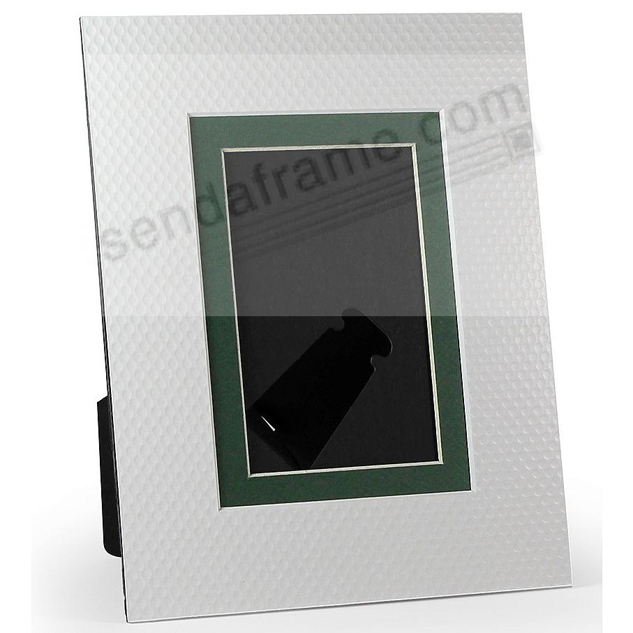 WHITE/Green GOLF BALL DIMPLE BEVEL-CUT Easel 4x6 Frame Paper Stock (sold in 6s)