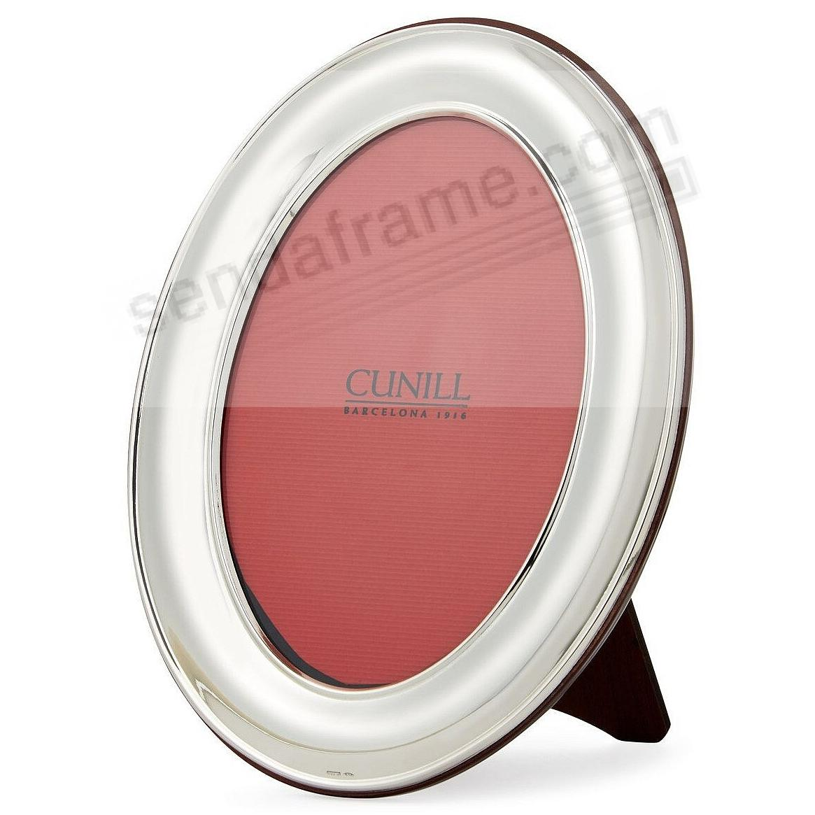 OVAL PLAIN Fine Sterling Silver 8x10/7x9 frame<br>by Cunill&reg;