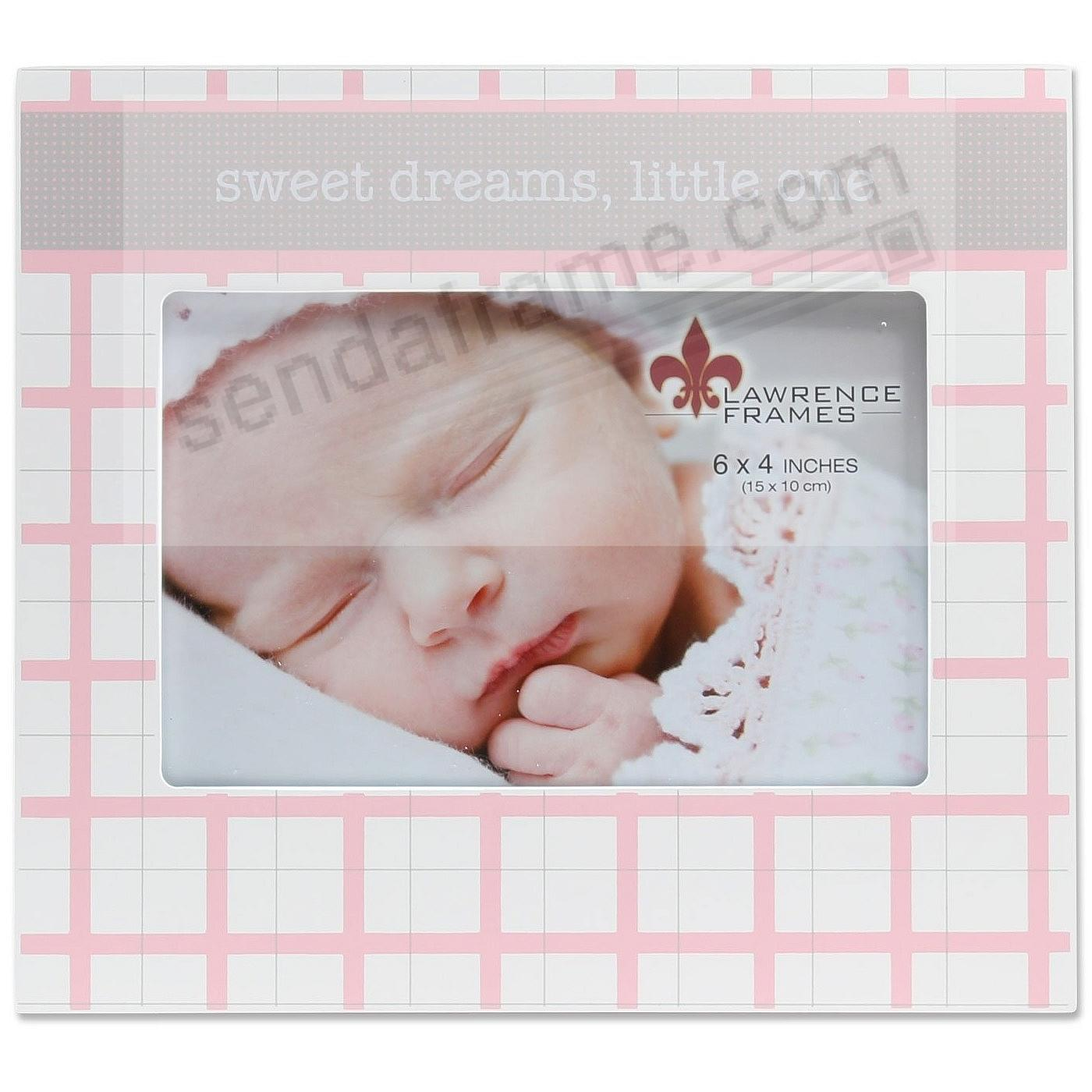 SWEET DREAMS LITTLE ONE Baby Pink 6x4 frame by Lawrence®