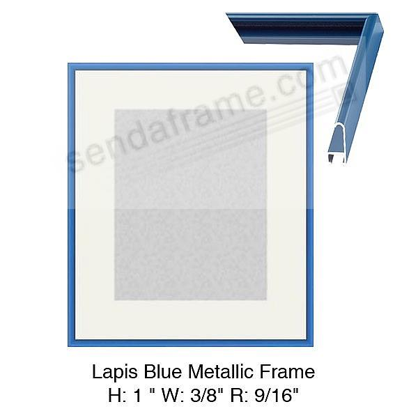 Custom-Cut™ Radius Colorcast LAPIS BLUE Metal H:1 W:3/8 R:9/16