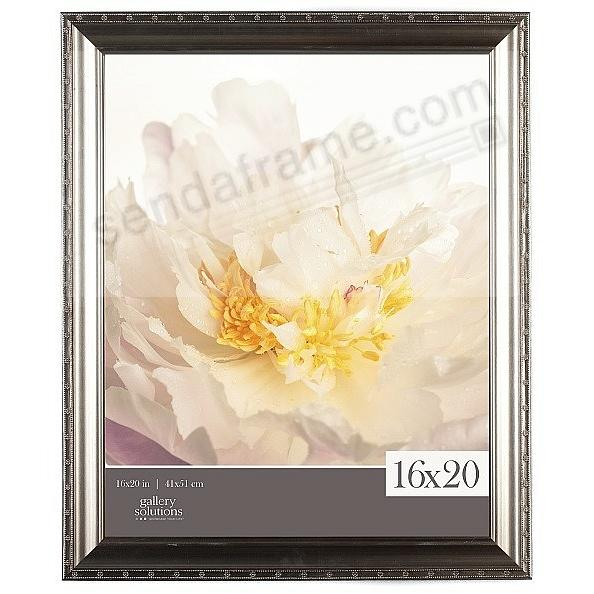 EMBOSSED SILVER FLORAL PORTRAIT frame 16x20 by Gallery Solutions®