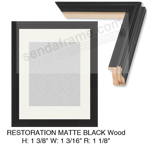 Custom-Cut™ RESTORATION Matte-Black H:1-3/8 W:1-3/16 R:1-1/8