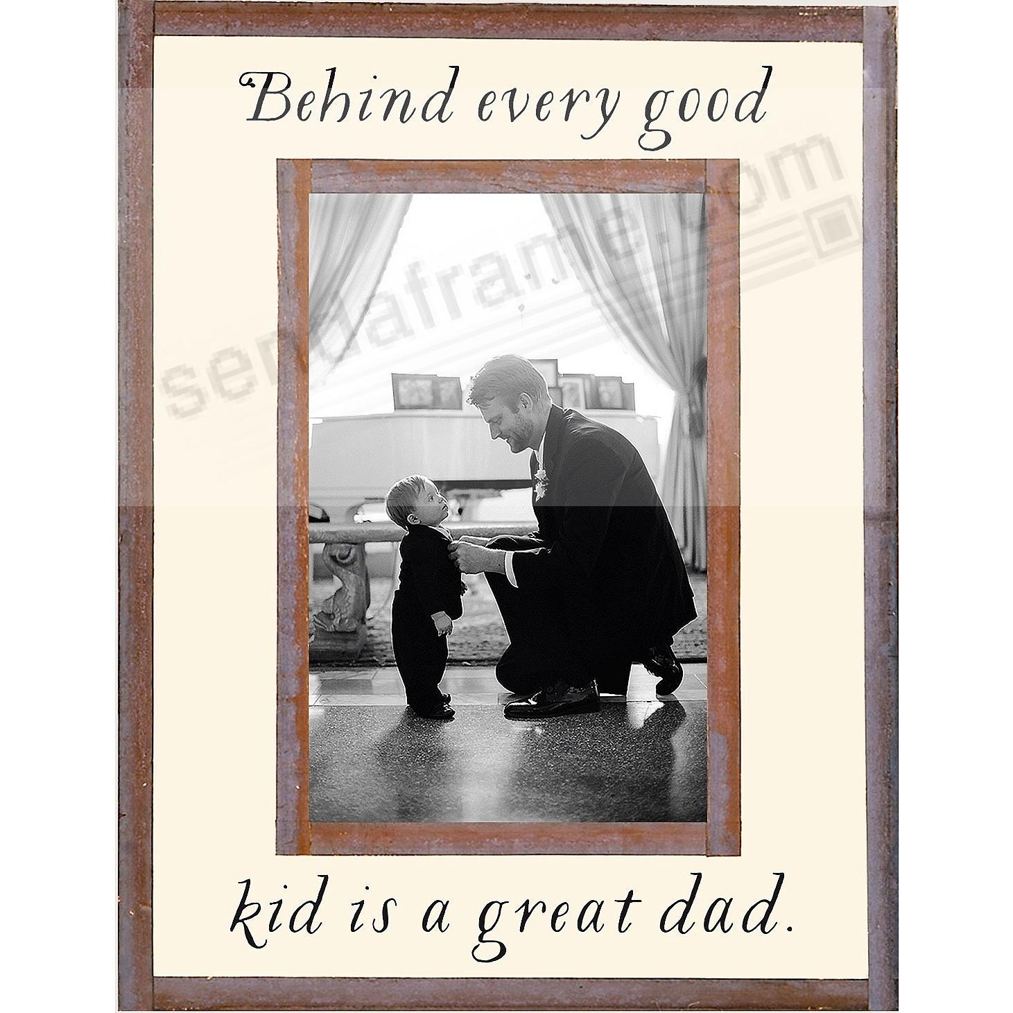 BEHIND EVERY GOOD KID IS A GREAT DAD Copper + Clear Glass by Ben\'s ...