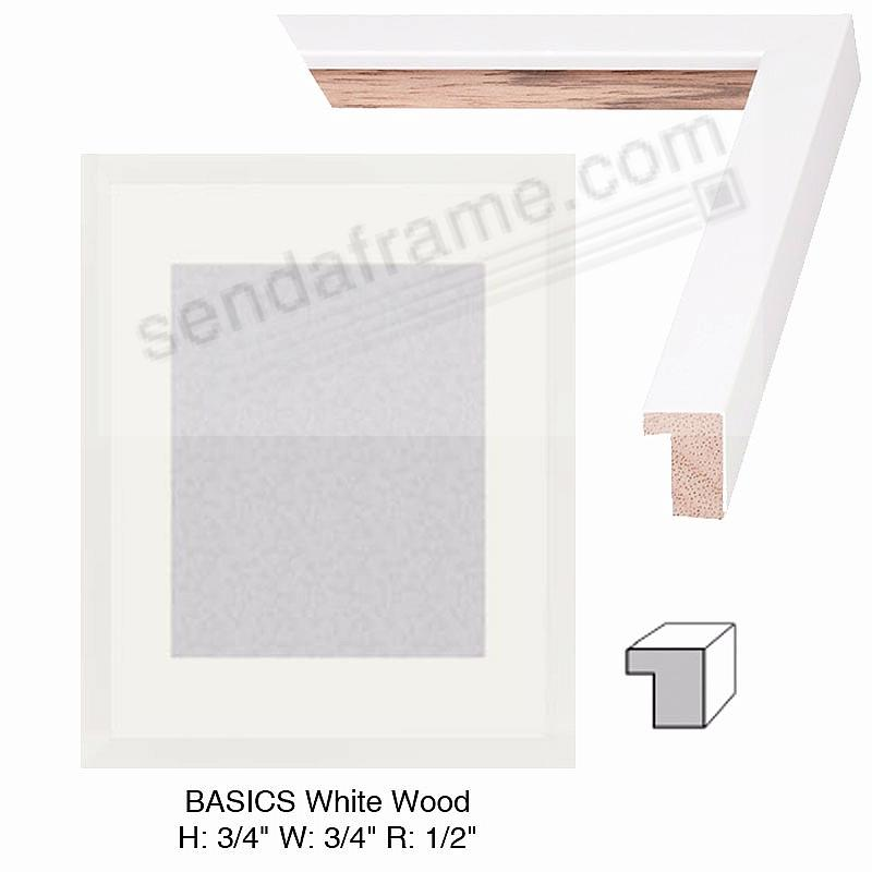Custom-Cut BASICS™ White Wood H: 3/4 W: 3/4 R: 1/2