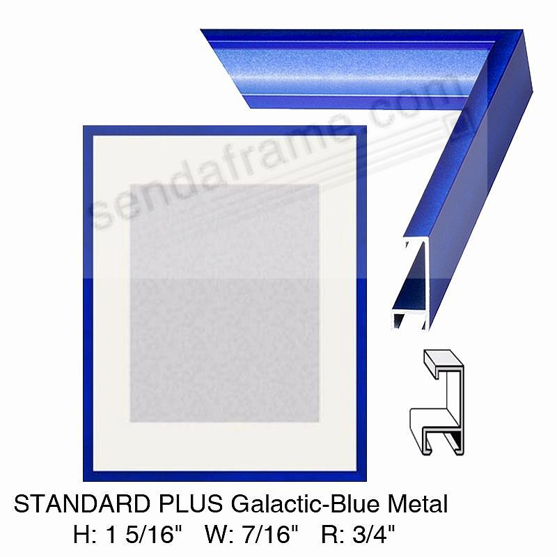 Custom-Cut™ STANDARD PLUS Galactic Blue Metal frame H:1-5/16 W:7/16 R:3/4