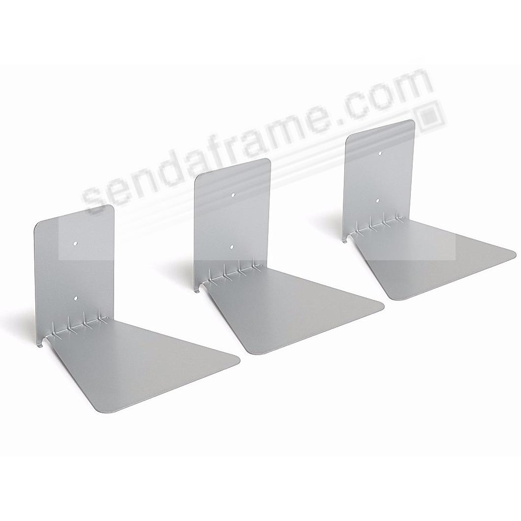 The Original CONCEAL Silver (Large) Bookshelf by Umbra® (set of 3)