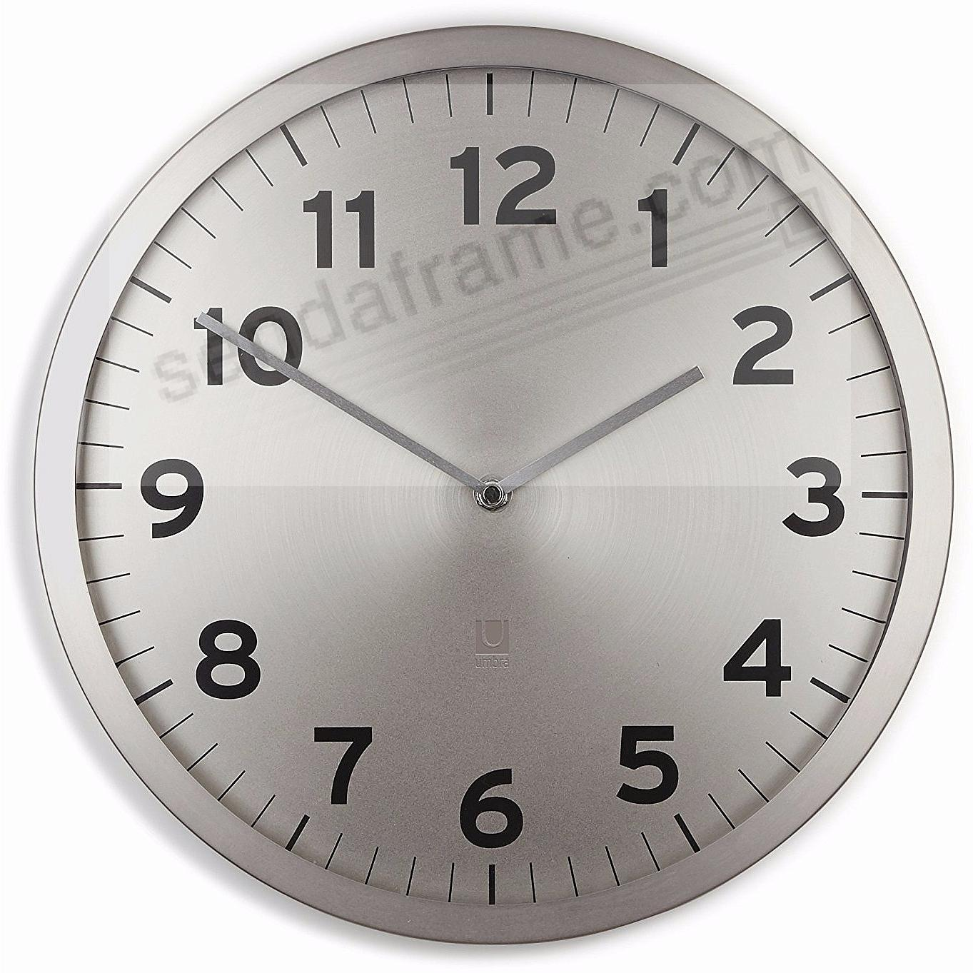 The original ANYTIME CLOCK 12½in Nickel by Umbra®