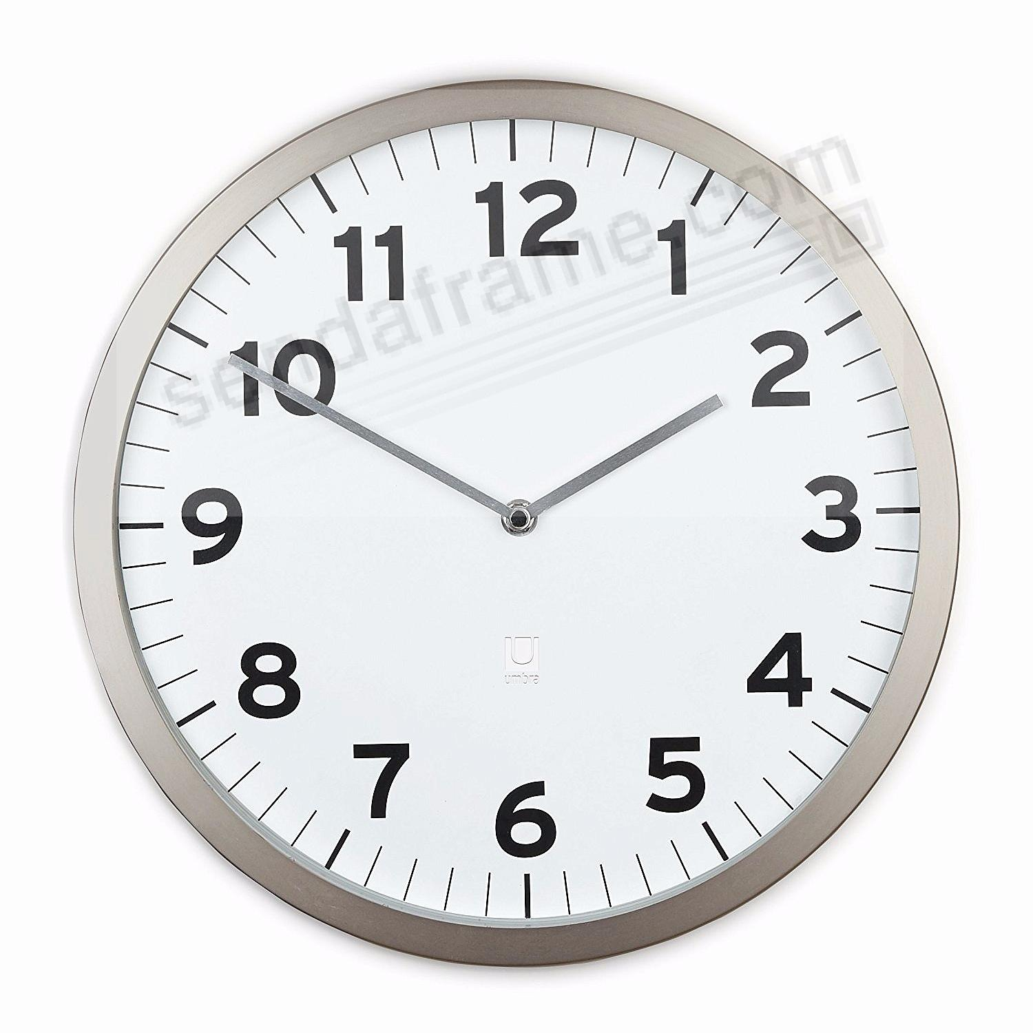 The original ANYTIME CLOCK 12½in White by Umbra®