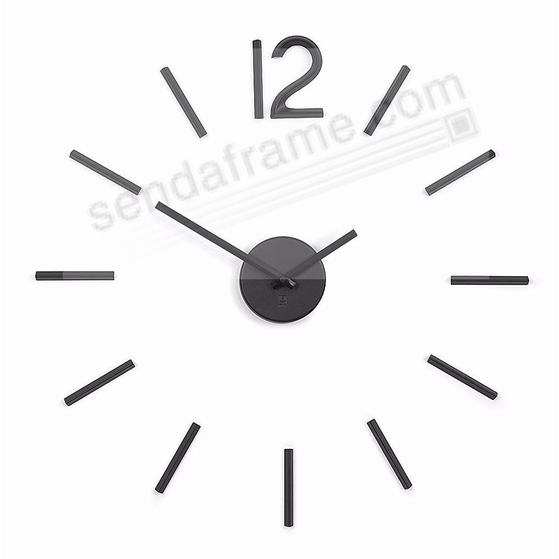 The original BLINK Wall Clock in Black by Umbra®