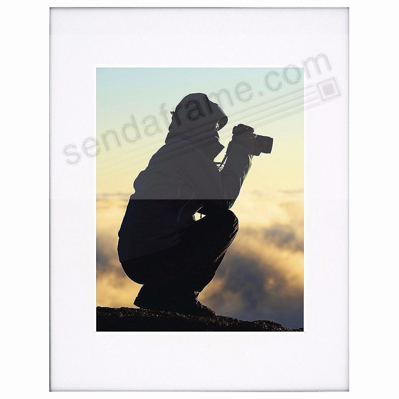 PHOTOGRAPHY Metallic frame WHITE/White Matted 16x20/11x14 by ARTCARE®