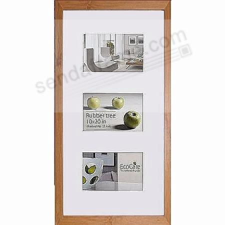 CONTEMPORARY Bamboo Matted frame displays (3)-4x6/(1)-10x20 prints by EcoCare®