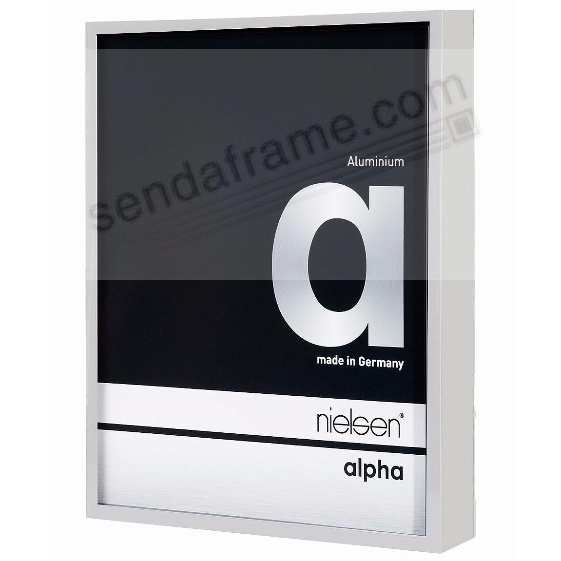 ALPHA Metallic Shiny-Silver 5x7 frame by Nielsen®