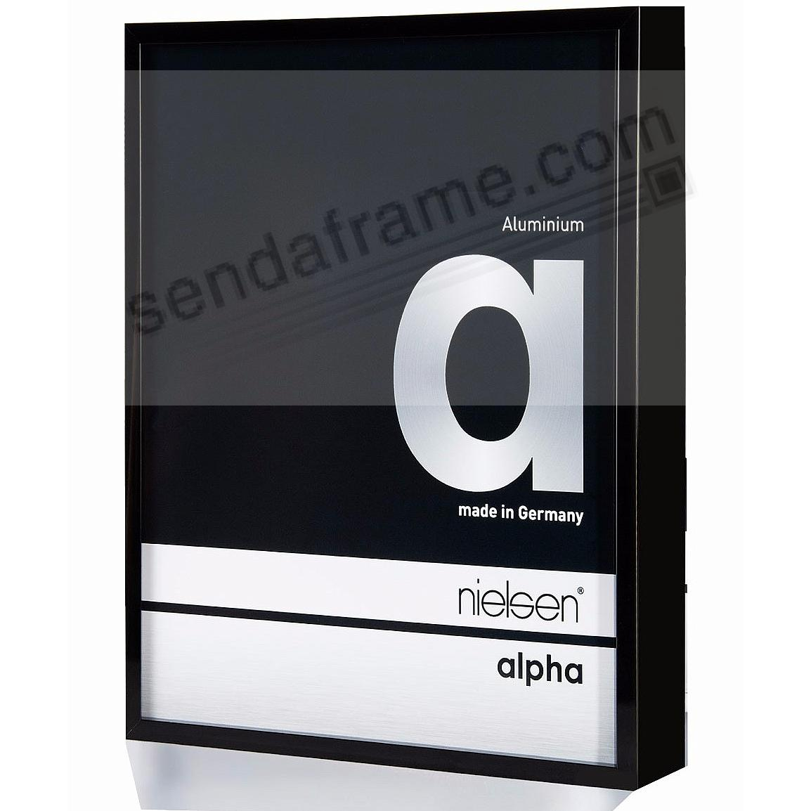 ALPHA Metallic Shiny-Black 5x7 frame by Nielsen®