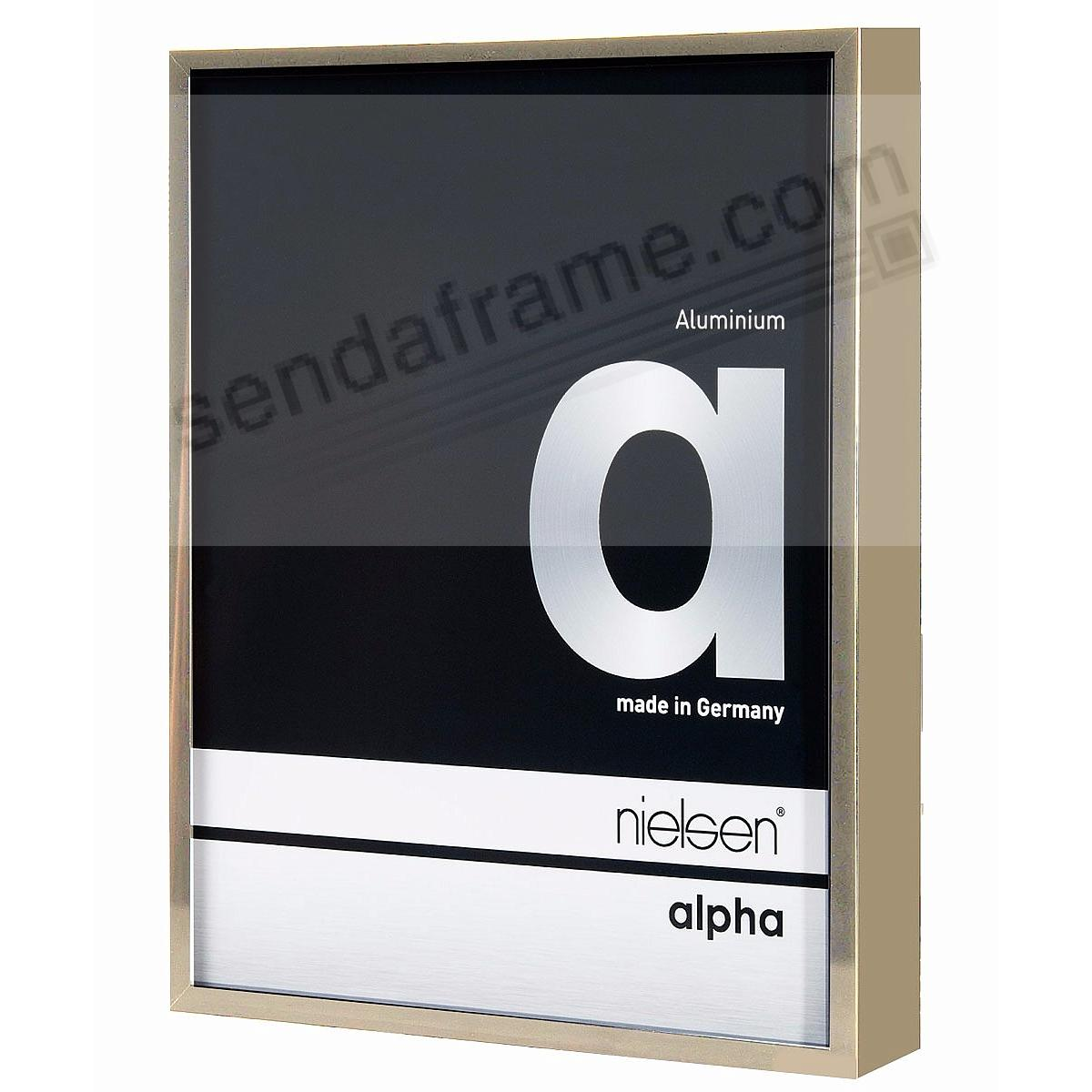 ALPHA Metallic Brushed-Gold 8x10 frame by Nielsen® - Picture Frames ...