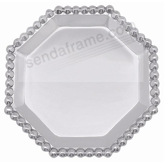The original PEARLED OCTAGONAL CANAPE PLATE by Mariposa®