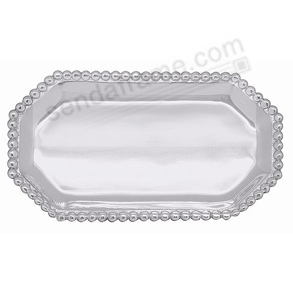 PEARLED OCTAGONAL STATEMENT TRAY  by Mariposa®