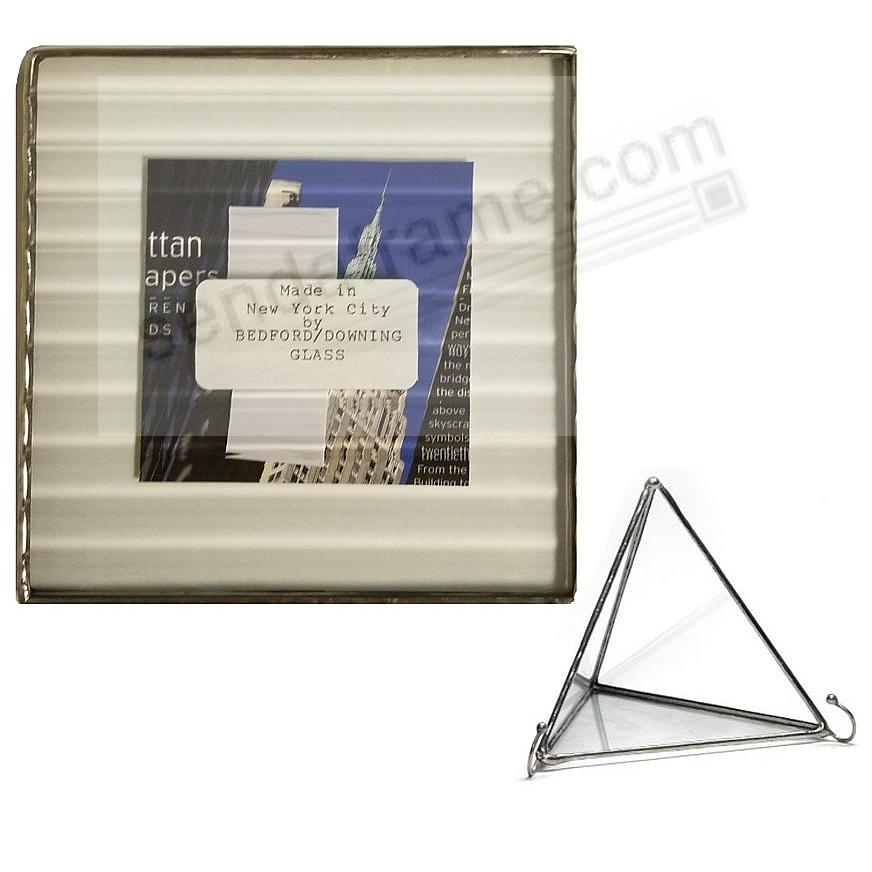 REED ½-in Pattern Glass Float Frame 5x5/4x4 Silver by Bedford ...