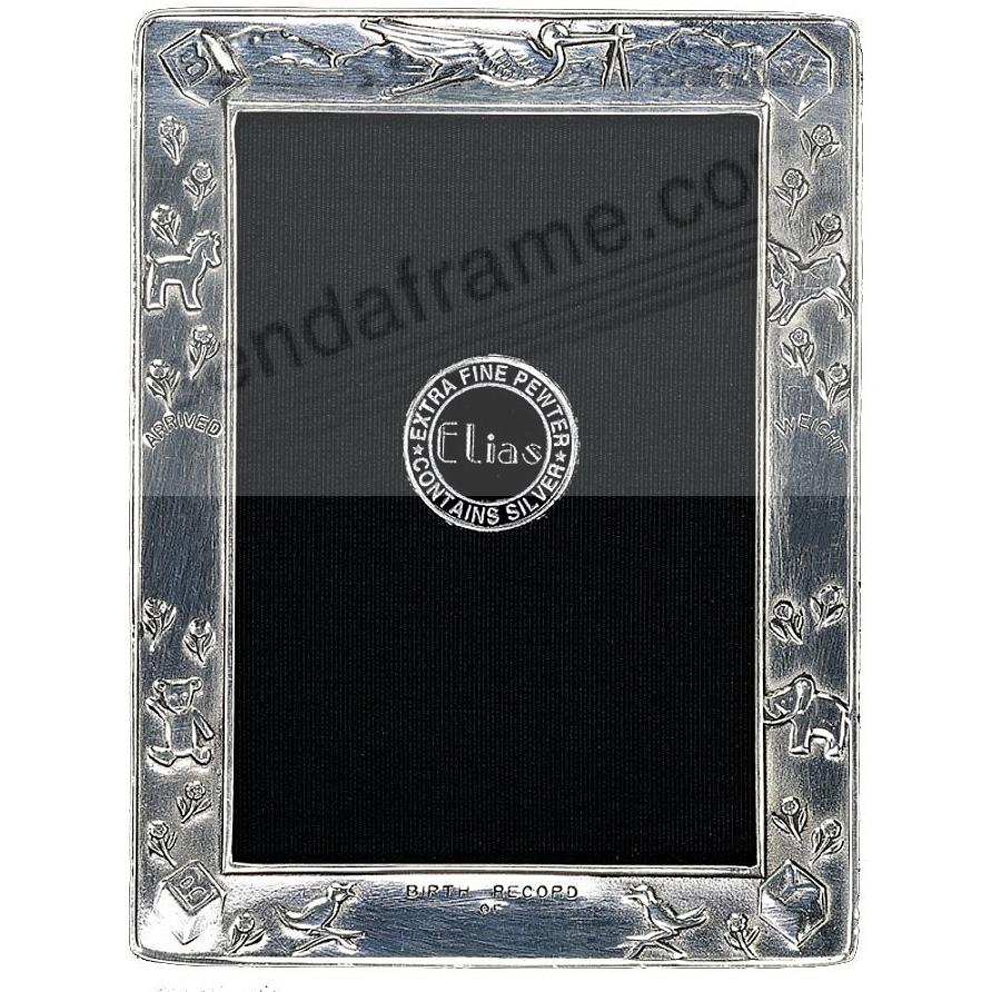 Mini BIRTH RECORD Fine Pewter frame by Elias Artmetal®