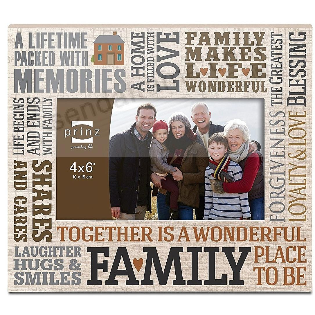MORE THAN WORDS - FAMILY - Wood Frame by Prinz®