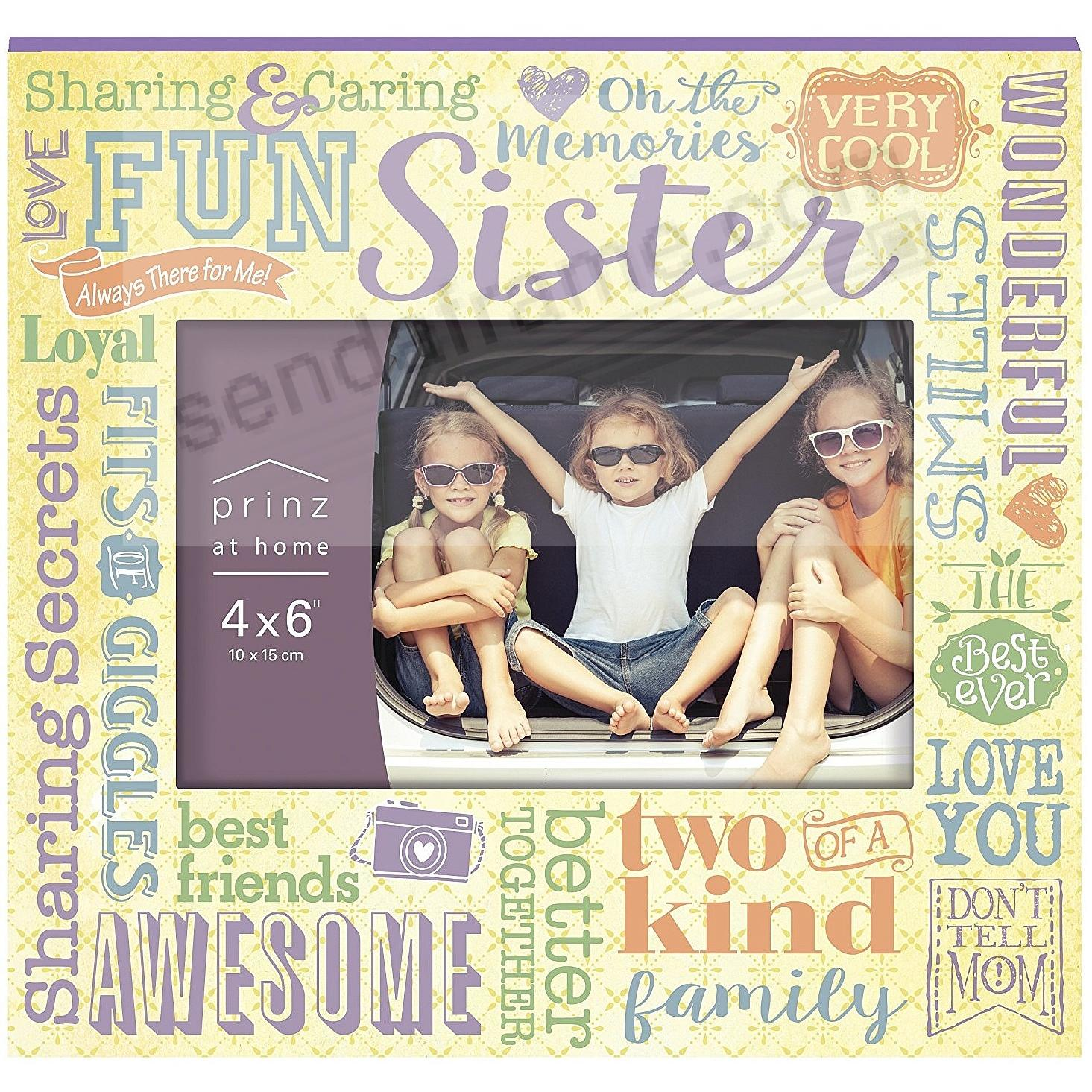 MORE THAN WORDS - SISTER - Wood Frame by Prinz®